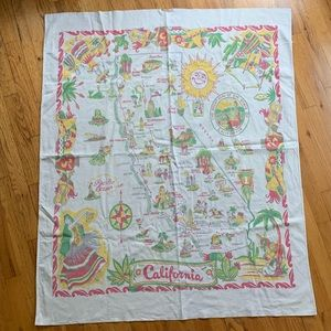 Vintage California Map Tapestry